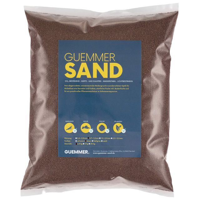 Guemmer Sand - brown - 0,7-1,2 mm