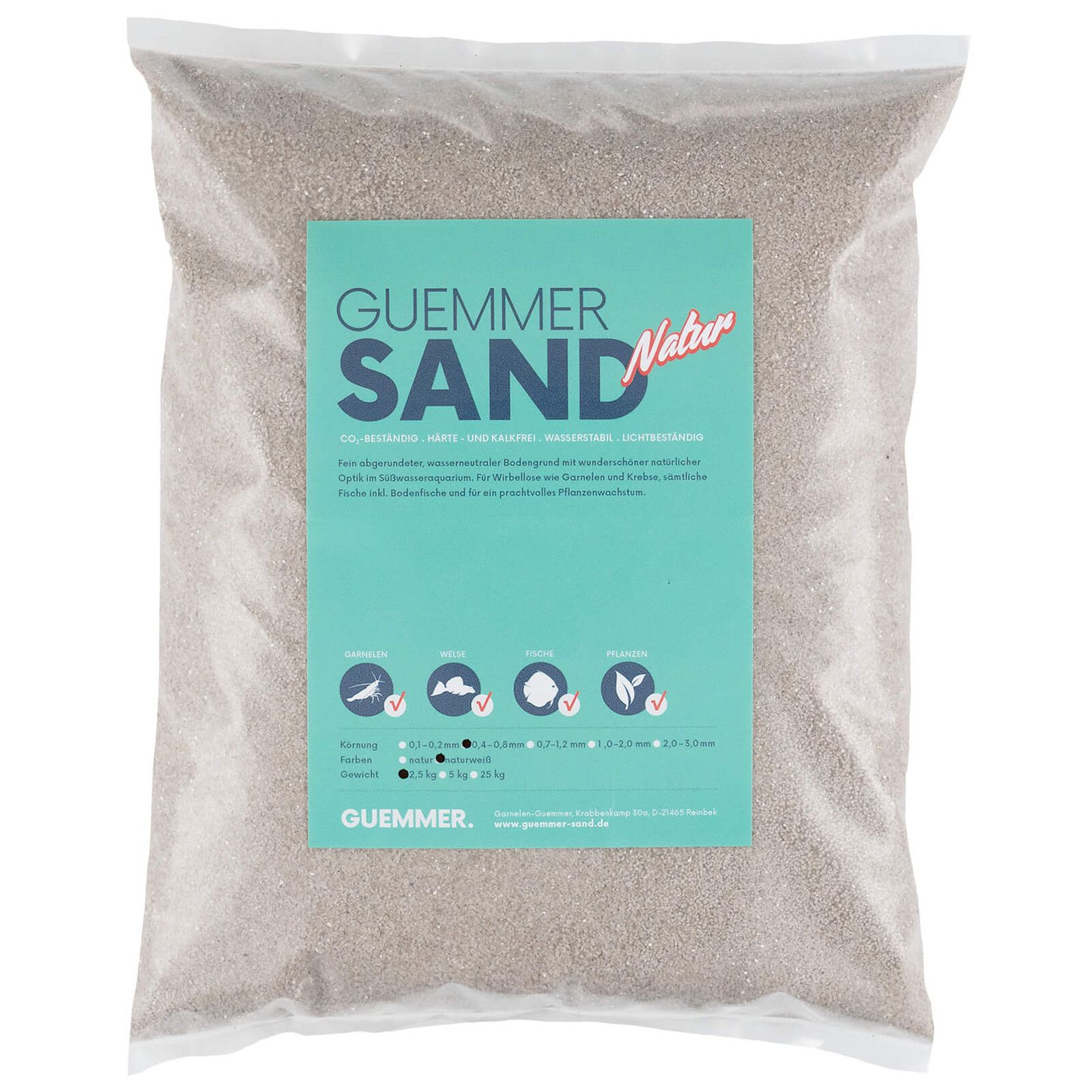 Guemmer Sand - nature white - 0,4-0,8 mm