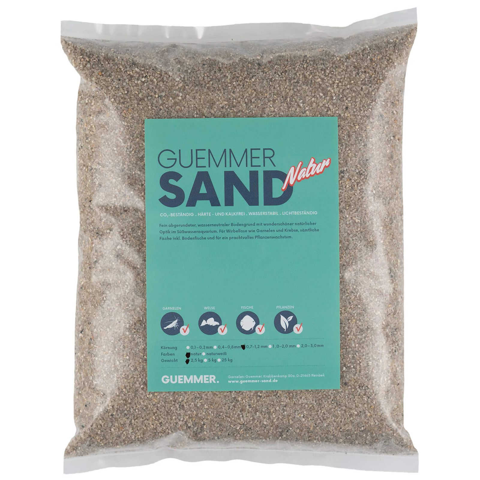 Guemmer Sand - nature - 0,7-1,2 mm