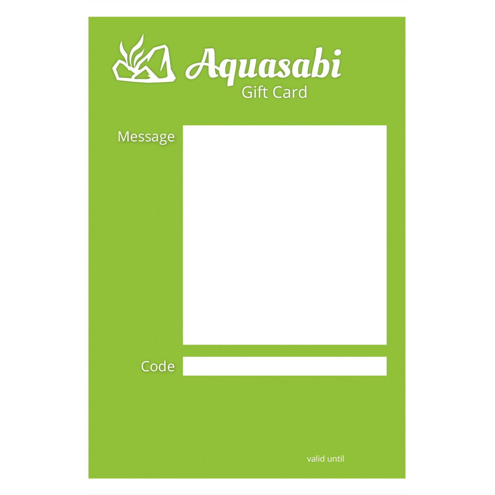 Aquasabi - Gift Card