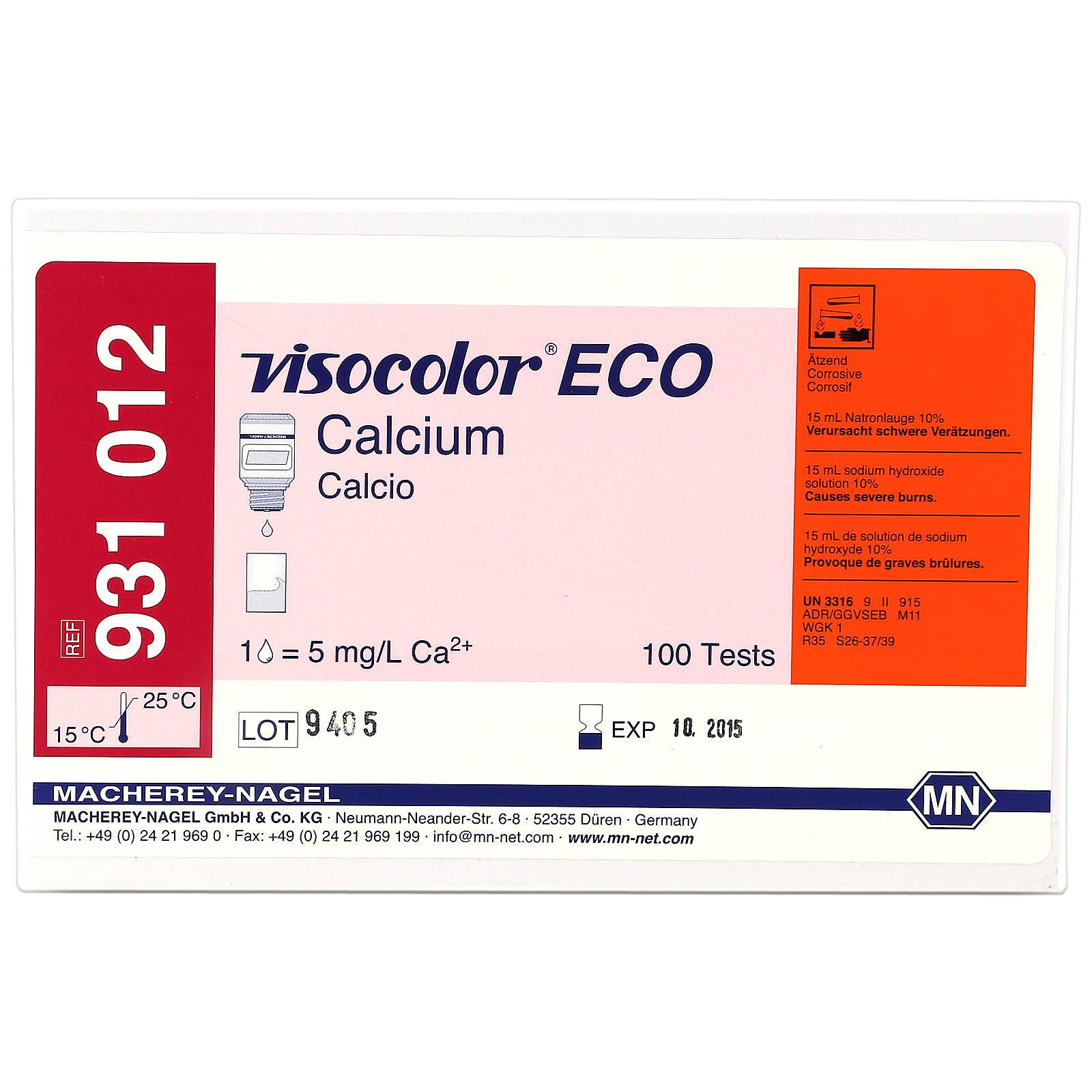 Macherey-Nagel - Visocolor ECO - Calcium - Test