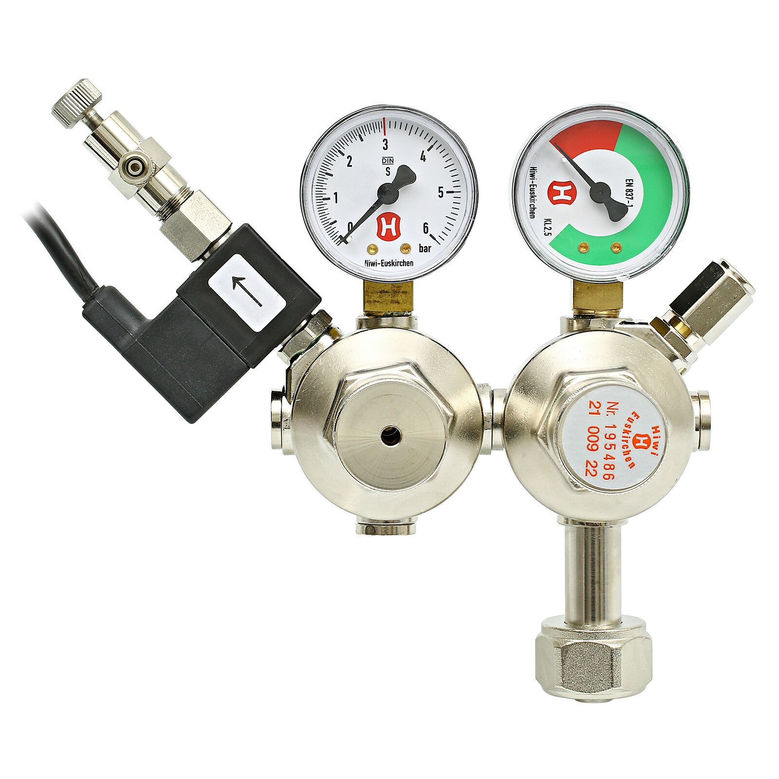 Hiwi - Double stage Pressure regulator + SV & CV