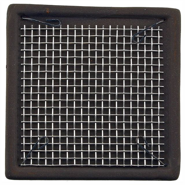 Aquasabi - Ceramic Moss Pad - with stainless steel grid - 5 x 5 cm