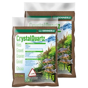 Dennerle - Crystal Quartz Gravel - dark brown